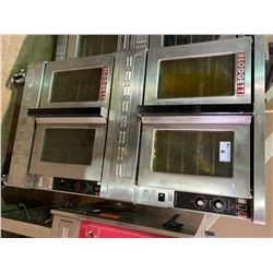DOUBLE BLODGETT ZEPHAIRE STAINLESS STEEL MOBILE NATURAL GAS CONVECTION OVENS