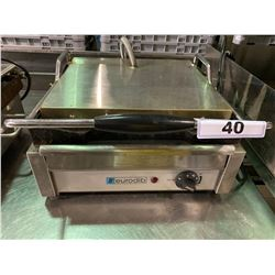 EURODIB STAINLESS STEEL COMMERCIAL ELECTRIC SINGLE PANINI PRESS