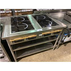 "COMMERCIAL STAINLESS STEEL 48""W X 32""D X 36""H WITH 2 VOLLRATH DUAL BURNER 3500W INDUCTION COOKTOPS"
