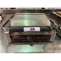 ADCRAFT STAINLESS STEEL COMMERCIAL ELECTRIC SINGLE PANINI PRESS