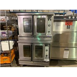 DOUBLE GARLAND SUNFIRE STAINLESS STEEL MOBILE NATURAL GAS CONVECTION OVENS