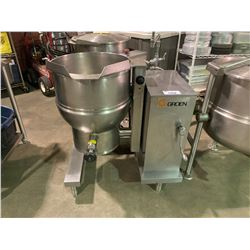 GROEN DEE/4T-20 COMMERCIAL STAINLESS STEEL STEAM KETTLE WITH BUILT IN STEAM GENERATOR & FILLER