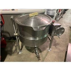CLEVELAND 28860 COMMERCIAL STAINLESS STEEL TILTING STEAM KETTLE ( TOP HANDLE MISSING )