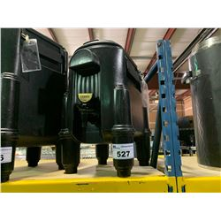 BLACK CAMBRO CSR3 SMALL INSULATED BEVERAGE TRANSPORT / DISPENSER CONTAINER