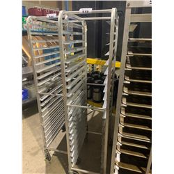 """20 SECTION 14""""W ALUMINUM MOBILE BAKERS RACK"""