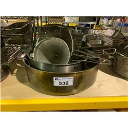 LARGE RESTAURANT STOCK POTS, STRAINERS & CULINARY TOOLS