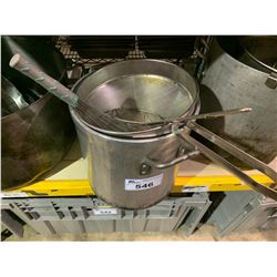 EXTRA LARGE RESTAURANT STOCK POTS, STRAINERS & CULINARY TOOLS