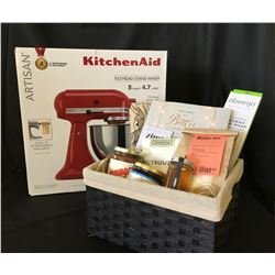 ARTISAN KITCHEN SUPPLY PACKAGE - Kitchen Aid Artisan Series 5 Quart Mixer in Cherry: Donated by