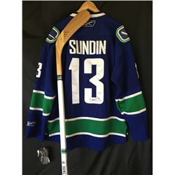 Canucks Collector Bundle -  Signed stick from Alexander Edler: Donated by the Canucks
