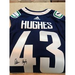 Vancouver Canucks, Quinn Hughes signed jersey (size XXL) Value: $300