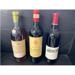 Wine Auction Package # 2:  1978 CHATEAU ROUMIEU WHITE WINE, 1971 GRAND VIN LEOVILLE RED WINE,