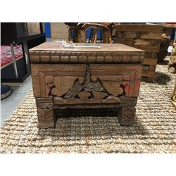 """ANTIQUE TRUNK - (APPROX 17.5"""" X 13.5"""" X 13"""") - MSRP $386"""