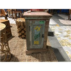 """PAINTED WOODEN CABINET (APPROX 15.5"""" X 11.5"""" X 27"""") MSRP $439"""