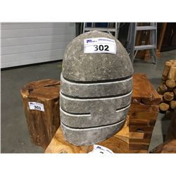 """SOLID STONE PILLAR CANDLE HOLDER (APPROX 15"""" X 9"""")"""