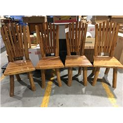 """SOLID TEAK DINING CHAIR (APPROX 45.5"""" X 18.75"""" X 20.25"""") X 4 - MSRP $299 EACH"""