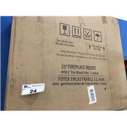 UNI-SYN FIREPLACE INSERT (APPROX 65CM X 31CM X 58CM) NEW IN BOX