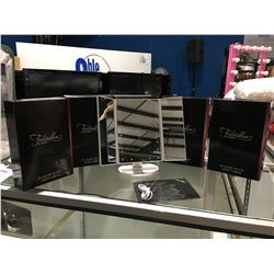 FONTAINEBLEAU LED LIGHTED TRI-FOLD VANITY MIRRORS - ULTRA BRIGHT 21PCS LEDS, PERFECT FOR MAKEUP USE,