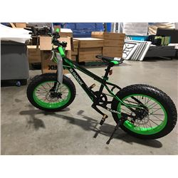"""APEX 7-SPEED 20"""" FAT TIRE, DISC BRAKES CHILDS BIKE  - A"""