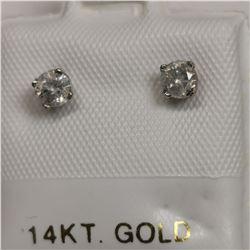 14K 2 DIAMOND(0.3CT) EARRINGS