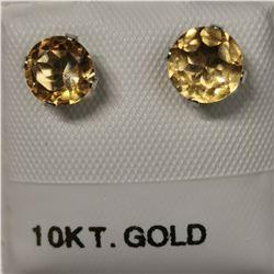 10K 2 CITRINE(1.3CT) EARRINGS