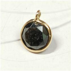 10K FLOATING BLACK DIAMOND(1CT) NECKLACE