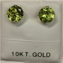 10K 2 PERIDOT(1.3CT) EARRINGS