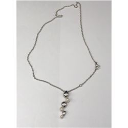 LADIES BIRKS STERLING SILVER & PEARL NECKLACE