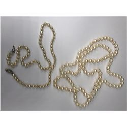 2 PAIRS OF PEARL NECKLACES
