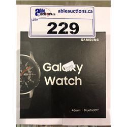 SAMSUNG GALAXY WATCH 46MM MODEL SM-R800NZSAXAC WORKING CONDITION WITH MINOR FLAW