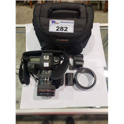 CANON 5D MARK 3 DSLR, CAMERA LOW SHUTTER COUNT, CANON 24 105MM LENS WITH 3 BATTERIES & TRAVEL CASE