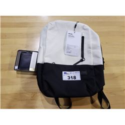 INCASE COMPASS WHITE LEATHER BACKPACK & FOSSIL WALLET