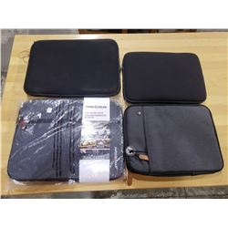 4 ASSORTED LAPTOP CASES