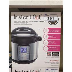 INSTANT POT DUO PLUS 9-IN-1 MULTI USE PROGRAMMABLE PRESSURE COOKER 8 QUART