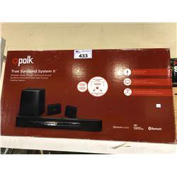 POLK TRUE SURROUND SYSTEM 2 WIRELESS HOME THEATER SURROUND SOUND