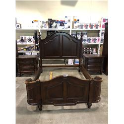 QUEEN SIZE BEDFRAME & 2 SIDE TABLES