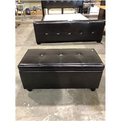 "STORAGE BENCH (17.5 X 35.5 X 15.5"") & 2 PILLOWS"