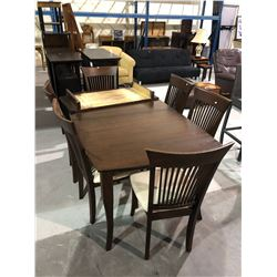 DINNING TABLE+LEAF & 6 CHAIRS