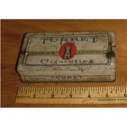 Manufactured by Imperial Tobacco Montreal Co of Canada Limited old Virginia Turret 50 cigarettes tin