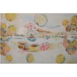 Many views original painting created by LangdonArt Fete des Astres - peinture unique plusieurs vues