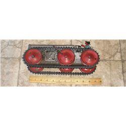 Remarcable antique superbe toy with key bulldozer & driver - jouet vieux remarquable avec conducteur