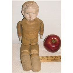 Marionnette Antique as is doll articulated holed head surely over 100 years old - ancienne poupée