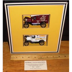 Model T Ford 2 vans mint in box limited edition 10 000- 2 Ford Model T neufs en leur boite