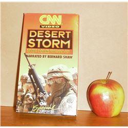 WAR Desert Storm CNN video Special Report VHS tape film