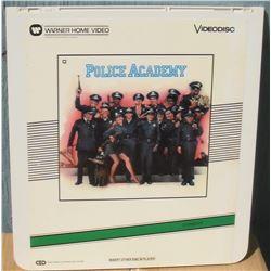 """13x14"""" home videodisc Police Academy - en anglais disquevideo"""