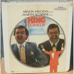 """13x14"""" home videodisc King Comedy - en anglais disquevideo"""
