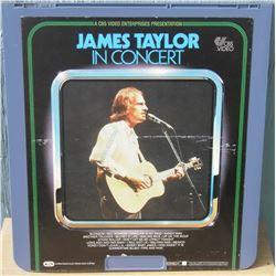 """13x14"""" home videodisc James Taylor in Concert - en anglais disquevideo"""