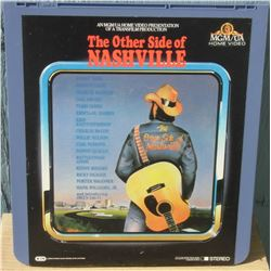 """13x14"""" home videodisc The Other Side of Nashville - en anglais disquevideo"""