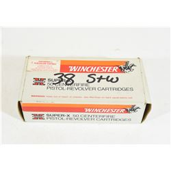 50 Rounds Winchester 38 S&W 145grn