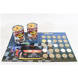 Nascar Collectable Coins and Cans