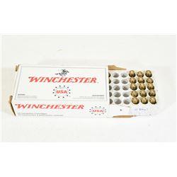 37 Rounds Winchester 25 Auto 50grn FMJ